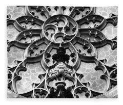 Lattice Stonework In Baltimore Fleece Blanket