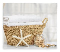Laundry Basket Fleece Blanket
