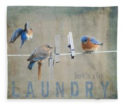 Laundry Day - Lets Do Laundry Fleece Blanket