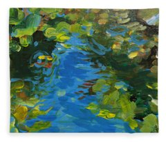 Laura's Pond II Fleece Blanket