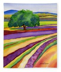 Lavender Field Fleece Blanket