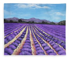 Lavender Field In Provence Fleece Blanket