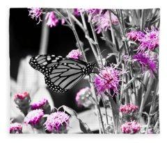 Lavender Flowers Fleece Blanket