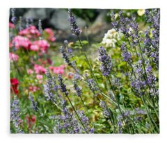 Lavender In Bloom Fleece Blanket