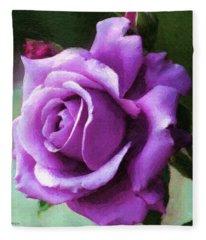 Lavender Lady Fleece Blanket