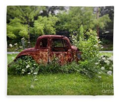 Lawn Ornament Fleece Blanket