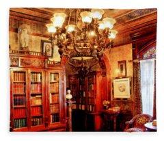 Lawyer - In The Library Fleece Blanket