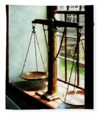 Lawyer - Scales Of Justice Fleece Blanket