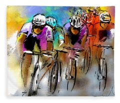 Le Tour De France 03 Fleece Blanket