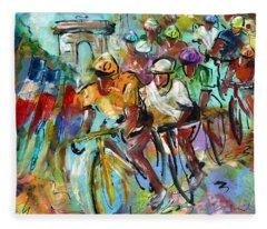 Le Tour De France Madness 02 Fleece Blanket