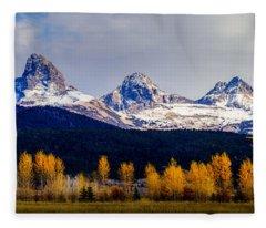 Le Trois Tetons Fleece Blanket