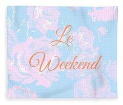 Le Weekend Fleece Blanket