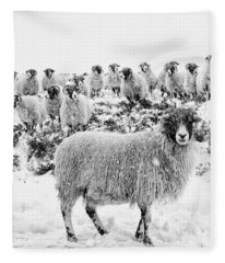 Leader Of The Flock Fleece Blanket