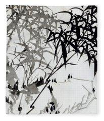 Leaf F Fleece Blanket