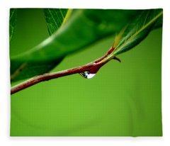 Leafdrop Fleece Blanket