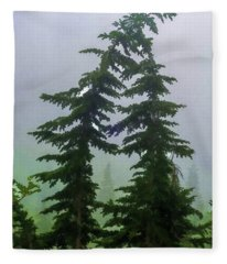 Leaning Trees Fleece Blanket