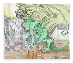 Leaping Dragon Fleece Blanket