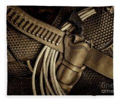 Leather And Lead Fleece Blanket