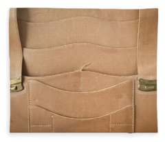 Leather Satchel Fleece Blanket