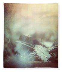 Leaves Of Time  Fleece Blanket