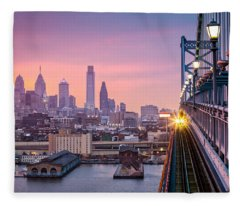 Leaving Philadelphia Fleece Blanket