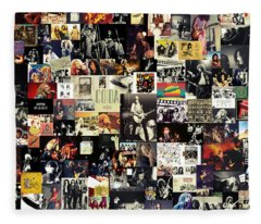 Led Zeppelin Collage Fleece Blanket