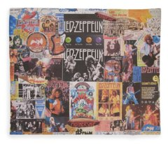 Rock And Roll Jimmy Page Fleece Blankets