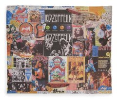 Led Zeppelin Years Collage Fleece Blanket