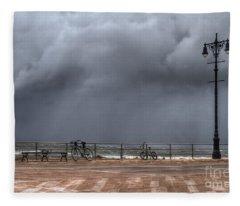 Left In The Power Of The Storm Fleece Blanket