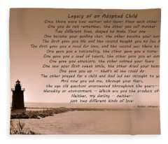 Legacy Of An Adopted Child Fleece Blanket
