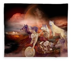 Legend Of Wolf Mountain Fleece Blanket