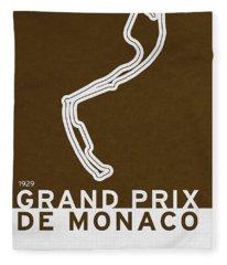 Legendary Races - 1929 Grand Prix De Monaco Fleece Blanket