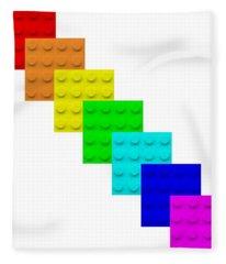 Lego Box White Fleece Blanket