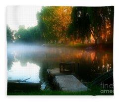 Leidy Lake Campground Fleece Blanket