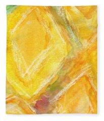Lemon Drops Fleece Blanket
