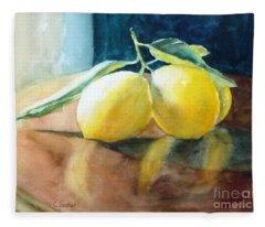 Lemon Reflections Fleece Blanket