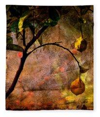 Lemon Tree Fleece Blanket
