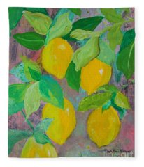 Lemons On Lemon Tree Fleece Blanket