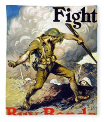 Lend The Way They Fight, 1918 Fleece Blanket