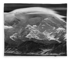 101366-lenticular Cloudcap Over Mt. Mckinley Fleece Blanket