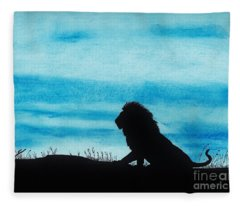 Leo At Sunset Fleece Blanket