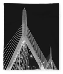 Leonard P. Zakim Bunker Hill Memorial Bridge Bw II Fleece Blanket