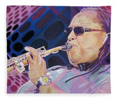 Leroi Moore-op Art Series Fleece Blanket