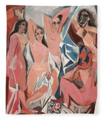 Les Demoiselles D Avignon Fleece Blanket