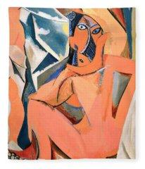 Les Demoiselles D'avignon Picasso Detail Fleece Blanket