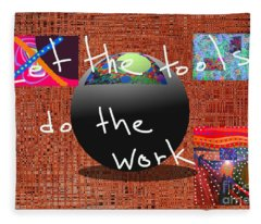 Let The Tools Do The Work Fleece Blanket