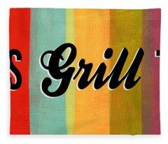 Let's Grill This Fleece Blanket