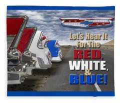Lets Hear It For The Red White And Blue Fleece Blanket