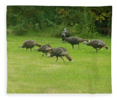 Let's Turkey Around Fleece Blanket