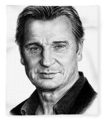 Liam Neeson Fleece Blanket